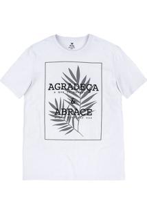 Camiseta Masculina Regular Em Malha De Algodão E Poliéster Hering