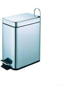 Lixeira De Inox 5 Litros Com Pedal Coisas E Coisinhas