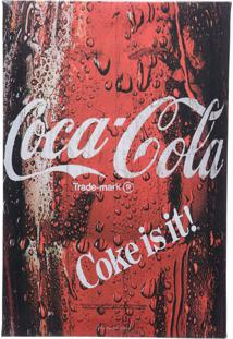 Quadro Tela Decorativa Coca-Cola Coke Is It Bottle Vinho 20X1,5X25,7 Cm Urban