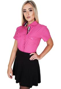 Camisa Lupim Manga Curta Rosa