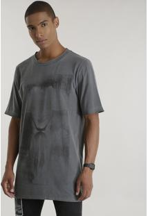 Camiseta Longa Coringa Cinza