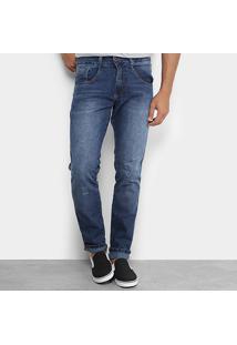 Calça Jeans Slim Biotipo Estonada Masculina - Masculino-Jeans