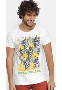 Camiseta Coca-Cola Abacaxi Masculina - Masculino-Branco