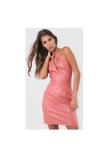 Vestido Forum Curto Resinado Rosa