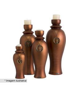 Castiçal Fosco- Bronze- 49Xø18Cmcarolina Haveroth