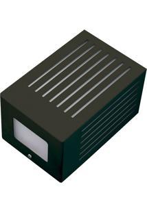 Arandela Retangular Angular Com Rasgo Horizontal 6137 11X13X19 1 Lâmpada Verde Pantoja&Carmona