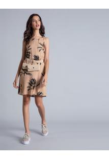 Vestido Recorte Gota Estampa Venice - Lez A Lez