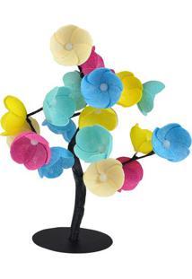 Luminária Árvore Luz De Fada Harlem- Azul & Amarela-Cormilu