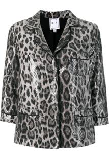 In The Mood For Love Blazer Sofia Com Paetês - Cinza