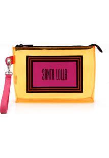 Clutch Santa Lolla Vinil Amarela