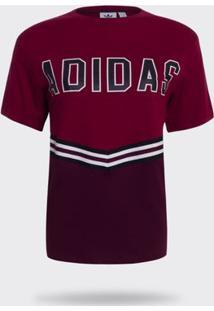 Camiseta Adidas Adibreak Bordô Feminina G