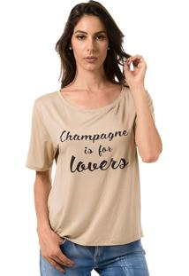 T-Shirt Bloom Champagne Is For Lovers Nude