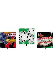 """Jogo De Cabideiros """"Las Vegas""""- Vermelho & Verde Escuro"""
