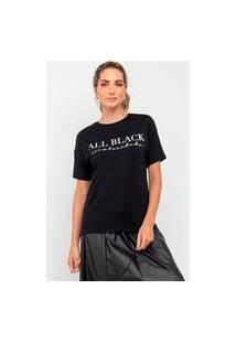 Tshirt All Black Simplicidade La Lima-G Preto
