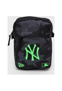 Bolsa New Era Shoulder Bag New York Yankees Cinza/Verde