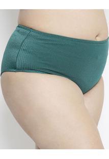 Calcinha Hot Pant Texturizada- Verde- Arsiéarsie