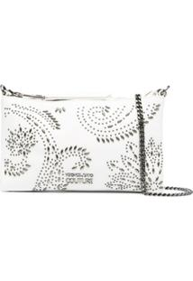 Versace Jeans Couture Studded Embellishments Crossbody Bag - Branco