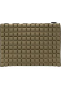No Ka' Oi Clutch Matelassê 'Chocolate' - Green