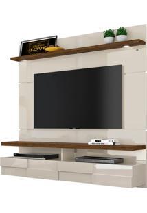 """Home Suspenso Lana 1.60M Para Tvs De Até 60"""" Off White / Savana"""