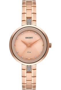 Relógio Orient Feminino Analógico 50M Rose Gold Frss0072-R1Rx