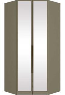 Módulo Canto Closet Com Espelho 02 Portas Exclusive M226-Henn - Duna
