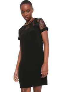 Vestido Desigual Curto Aral Preto - Preto - Feminino - Viscose - Dafiti