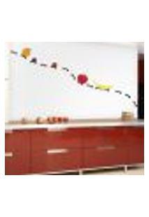 Adesivo De Parede Para Cozinha Formigas Carregando Frutas - Médio