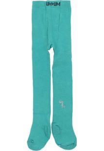 Meia Calça 1+1 - Feminino-Azul