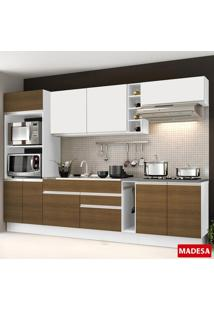 Cozinha Compacta Safira G2016 Branco/Rustic - Madesa