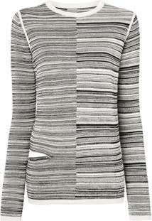 Rick Owens Suéter Com Recortes - Preto