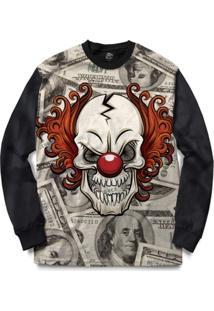 Blusa Bsc Dope Skull Dollar Full Print - Masculino