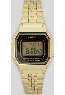 Relógio Digital Casio Feminino - La680Wga1Df Dourado