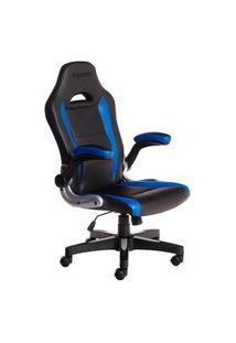 Cadeira Gamer Max Racer Storm Target, Até 110Kg, Preta E Azul - Tgt-02