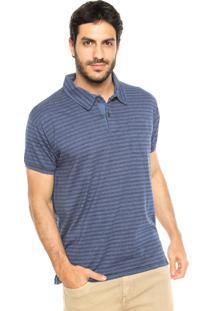Camisa Polo Perry Ellis Listras Azul