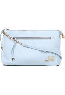 Bolsa Couro Jorge Bischoff Mini Bag Feminina - Feminino-Azul Claro