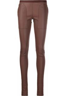 Rick Owens Calça Skinny - Marrom