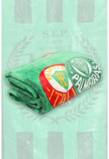 Cobertor Solteiro Jolitex Raschel Palmeiras Verde - Verde - Dafiti