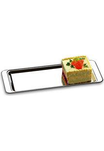 Bandeja Para Torta Átina Em Aço Inox 40X16Cm 1424140 Brinox