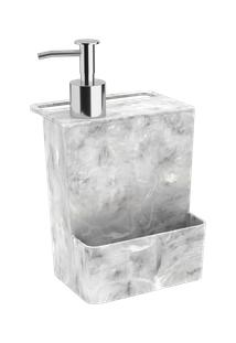Dispenser Multi Glass 12 X 10,6 X 20,8 Cm 600 Ml Mármore Branco Coza