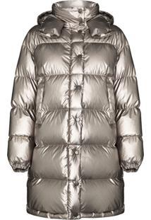 Moncler Gaou Metallic Puffer Jacket - Cinza