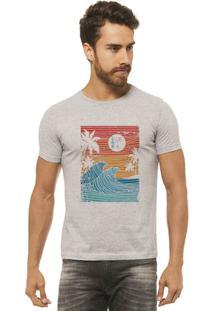 Camiseta Joss Estampada - Wave - Masculina - Masculino-Mescla