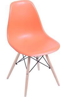 Cadeira Eames Dkr- Laranja & Madeira Clara- 80,5X46,Or Design