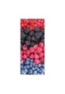 Adesivo Decorativo De Porta - Frutas Vermelhas - 307Pt Auto Colante