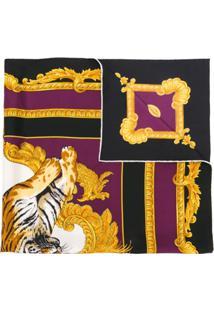 Versace Lenço Com Estampa 'Tiger' - Estampado