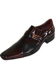 Sapato Social Gofer Premium Bordô