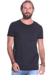 Camiseta Manga Curta Vlcs 18542 Bolso Frontal Masculina - Masculino