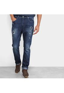 Calça Jeans Mcd Denim New Slim Destroy Masculina - Masculino-Jeans