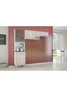 Cozinha Compacta 3 Peças Isadora - Poquema - Amendoa / Capuccino