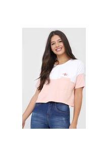 Camiseta Cropped Hang Loose Enjoy Rosa