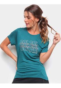 Camiseta Colcci Logo Get Moving Feminina - Feminino-Musgo